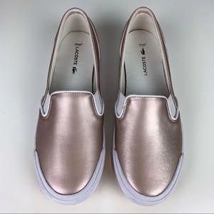 LACOSTE Lancelot Women's Slip-On Pink   Size 7